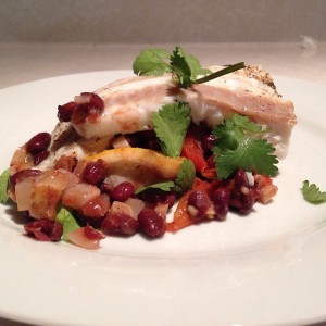 Salted Cod with veggies